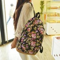 2014 female fashion canvas sport/travel bag women Backpack printing vintage bolsas Student school bags Backpacks for teenagers