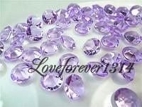 1000pieces Lavender Diamond Confetti 2C Wedding Table Centerpiece Decor