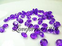 Diamond Confetti Purple 8mm Wedding Festival Decorations,1000pcs/lot