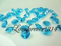 1000 Aqua Blue Diamond Confetti Xmas Favor Favor Decor