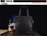 Man bag fashion handbag shoulder bag messenger bag vertical genuine leather male casual