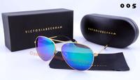 News Fashion  Brand Designer  VB Aviator men women oculos de sol victoria beckham Polarized Sunglasses with original box