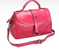 New arrival genuine leather cross body bag 2014 fashion vintage candy colorwax cowhide women's shoulder handbag,retail