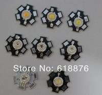 100pcs 1W 3W High Power LED light bead emitter, Red, Green, Blue, Yellow, RGB,white(neutral White), Warm White, Cool White