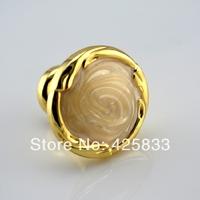 4pcs continental ivory handles luxury amber gold handle door knobs drawer cabinet golden jade yellow cabinet pulls