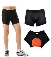 High Quality 1pc/lot Pink/White/Black Men & Women's Comfortable Bike Riding Shorts Gel 3D Padded Underwear Pants cx690034