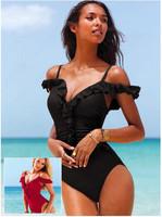 Swimsuit Piece Swimsuit Free Shipping Hot-selling Sexy Fashion Swimwear Large Push Up Bikini Hot Spring Female Beach