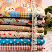 6 PCS 50CM*50CM orange powder  tecidos cloth  cotton sewing Fat Quaters patchwork fabric quilting tilda doll cloth crafts tissue