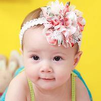 Baby chiffon flower baby headband hair infant princess hair accessory for children 2014 new