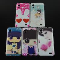 Fashion Cute Cartoon Design Girl Rabbit Skin Cover Back Hard Case for lenovo s720 phone bag case