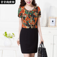 Women's swifter twinset elegant lace 2014 clothing a-line skirt  Free shipping