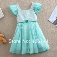 Free Shipping ,kids fashion Sequine dress,Girls party dress,YY0001