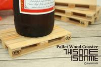 4Pieces=1Set Wooden Pallet Styled Coaster Set / Mini Wooden Pallet Coasters