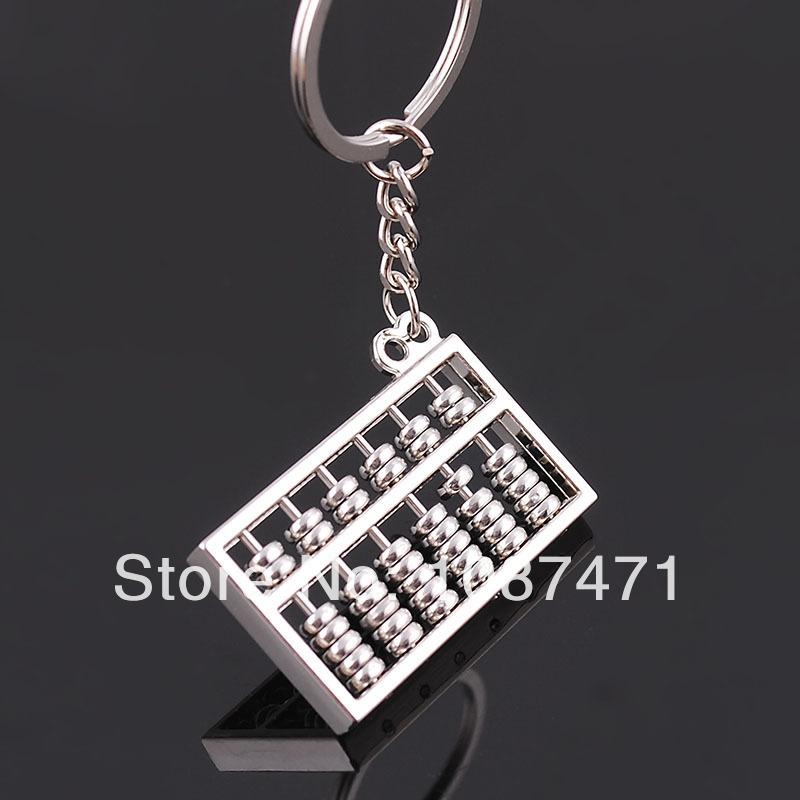 Wholesale 2013 Hot!Creative Key chain Simulation Six Abacus Keychain Pendant Novelty Promotional Products(China (Mainland))