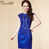 Dora 2014 women's pullover fashion ol one-piece dress skirt slim step  Free shipping