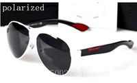 New high quality designer metal brand men's tide anti-glare 100% UV resistance polarizer sunglasses for men