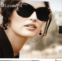 New elegant women's brand designer polarized sunglasses for women personality black sunglasses 4167