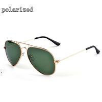 Nobility brand metallic polarized green lens sunglasses designer metal polarized sunglasses for men and women 3025