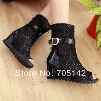 Free shipping! Fashion new hot selling summer Roman style women/lady wedge sandals/shoes, sexy hollow out lacing design shoes