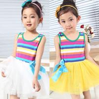 free shipping Children's clothing girl's summer 2014 baby one-piece dress summer child princess dress baby dress yarn dress