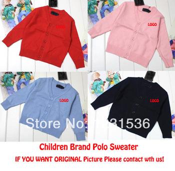 2014 дети поло свитер дети бренд кардиган верхняя одежда для девочек и мальчиков англия стиль трикотажные Swearter для весна осень