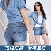 2014 plus size clothing summer mm plus size plus size clothing plus size clothing denim short trousers