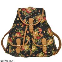 Backpack vintage women's print canvas backpack school bag qq1715