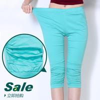 Women's plus size candy multicolour female jeans capris pencil skinny pants