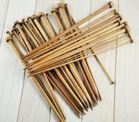 Free Shippng Needlework Bamboo Single point straight Knitting Needles 18 pairs & sizes length 25cm