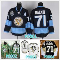 Cheap stitched 2014 NHL Pittsburgh Penguins  71# Evgeni Malkin black/White /camo  ice hockey jersey/shirt/sportswear