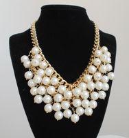 Popular accessories necklace pearl big necklace multi-layer necklace short design fashion false collar