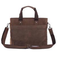 2014 New Fashion Vintage Style Crazy Horse Genuine Leather Brand Briefcase For Men Shoulder Bag Laptop Messenger Bag Handbag
