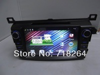"""Free Shipping! Pure Android 4.0,8"""" HD Capacitive touchscreen double din Car DVD/PC/GPS Player for toyota RAV4 2013"""