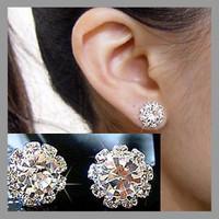 2014 Brand New FASHION spherical Crystal Flower Stud Earrings for Women