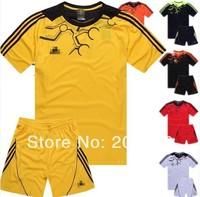 new arrived man's plain football uniform set,football club uniform.