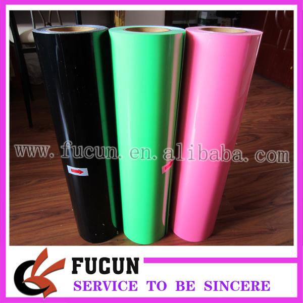 PVC heat transfer vinyl,25meters long,0.5m wide,heat transfer on garment(China (Mainland))