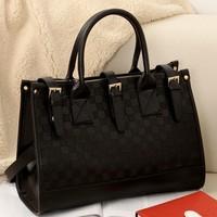 2014 Women's handbag hot-selling black fashion casual vintage shoulder bag messenger bag large bag handbag