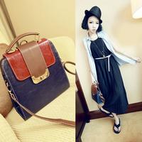 2014 woman's bag  female vintage messenger bag fashion preppy style backpack