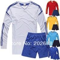 custom man's or women's blank or plain long sleeve football kit,football team uniform.