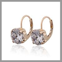 Shopping Festival 18K Gold Plated  Earrings For Women Crystal Zirconia CZ CC Earring Cuff Earring Free Shipping