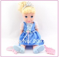 My First Fairy Tales Princess Cinderella Doll Gift for Girls Baby Toy 34cm Loose