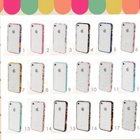 Specail Offer New Arrive in Small Fresh Florals Series Bumper Frame case for iPhone 4/4S