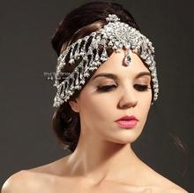 Luxury rhinestone flower beaded bride hair accessory wedding dress hair accessory marriage wedding jewelry free shipping