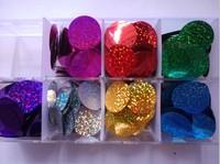 Diy accessories laser round paillette diy clothes accessories sequins  1.5cm