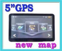 5.0 New Car GPS NAV FM Transmiter Bluetooth AV-IN Touch mp3/4 2GB Map
