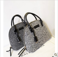 Fashion 2013 woolen bag quality shell bag winter trend handbag cross-body women's handbag bag