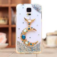new 2014 rhinestone crystal diamond moon case cover for Samsung galaxy S5 i9600 case