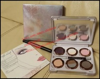 2014 New - 6 pcs the glinda 6 colors eyeshadow palette , a lip pencil , a eye pencil makeup! happy-shopping
