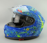 Free shipping/ Cirus brand in HJC / Motorcycle Motorbike helmets/full face helmets with inner visor/HS-800 blue paintting