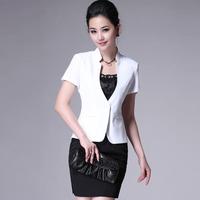 Plus size clothing set jewelry work wear work wear slim blazer women summer ladies blazer